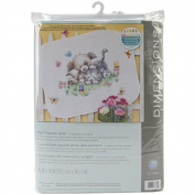 Dimensions Pet Friends Baby Quilt Stamped Cross Stitch Kit, 110cm x 90cm