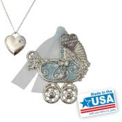 Gloria Duchin Baby Boy Christmas Ornament and Charm Pendant Necklace, 46cm