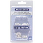 Beadalon Silver Memory Wire End Cap Variety Pack