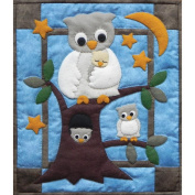 Owl Family Wall Hanging Quilt Kit-33cm x 38cm
