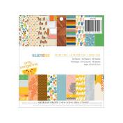 American Crafts Paper Pad 15cm x 15cm 36/Pkg-Amy Tangerine - Ready, Set, Go