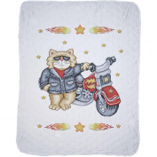 Born To Be Wild Baby Quilt Stamped Cross Stitch Kit, 90cm x 110cm