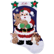 Forest Friends Stocking Felt Applique Kit-41cm Long