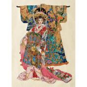 Heirloom Collection Kimono Geisha Counted Cross Stitch Kit-26cm x 36cm 28 Count