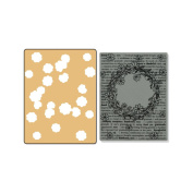 Sizzix Textured Impressions Embossing Folders and Stamp Set, Hero Arts Floral Wreath