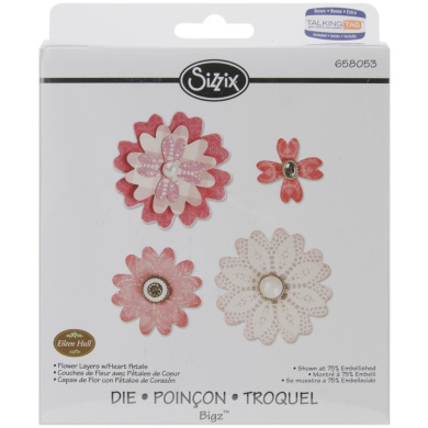 Sizzix Bigz Die Flower Layers with Heart Petals by Eileen Hull for Scrapbooking