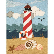 M C G Textiles Heritage Rug Hooking Kit 50cm X27-Lighthouse