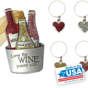 Gloria Duchin Ladies' Night Out Wine Bucket Ornament and Drink Charms Set
