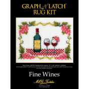 Latch Hook Kit 70cm x 50cm , Fine Wine