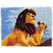 MCG Textiles 52758 Latch Hook The Lion King Disney Dreams Collection Kit by Thomas Kinkade for Rugs