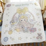 Bucilla Precious Moments Crib Cover Stamped Cross-Stitch Kit, 90cm x 110cm