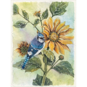 Bucilla Sunflower Bluejay Counted Cross Stitch Kit, 23cm x 30cm , 28 Count