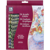 Acrylic Paints 12ml 24/Pkg-Assorted Colours
