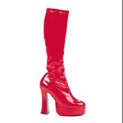 Red Leather Womens 14cm Knee High Boots sz 9