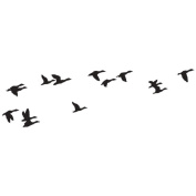 Art Impressions Wilderness Series Cling Rubber Stamp-Flying Ducks 2.5cm x 7.6cm