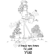 Stamping Bella Cling Rubber Stamp 9.5cm x 10cm -Uptown Girl Pippa Loves To Plant