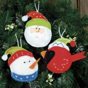 Dimensions Felt Applique Kit, Holiday Trio Ornaments