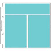 Doodlebug Page Protectors 20cm x 20cm 12/Pkg-(1) 21cm x 5.1cm & (2) 10cm x 15cm Pockets