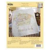 Bucilla 45392 Stamped Cross Stitch Kit, 90cm by 110cm Crib Cover, Noah's Ark