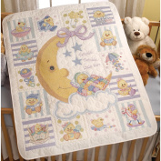 Bucilla Baby 45584 Stamped Cross Stitch Crib Covers, Twinkle Twinkle Little Star