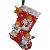 Bucilla Felt Stocking Kit, Candy Angels