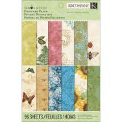 K & Company Scrapbooking Paper Pad, Tim Coffey Foliage Designer