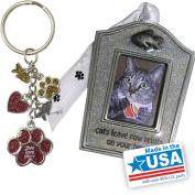 Gloria Duchin Cat Christmas Ornament and Keychain Gift Set