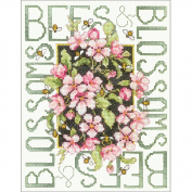 Bees & Blossoms Stamped Cross Stitch Kit, 11, 1.9cm x 39cm