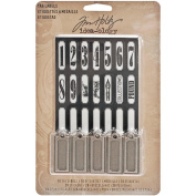 Metal Tags and Labels by Tim Holtz Idea-ology, 10 Tags and 56 Stickers, Multicoloured, TH93059