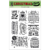 Hot Off The Press Acrylic Stamps 15cm X20cm Sheet-Christmas Cheer