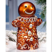 28cm Lighted Hand Crafted Gingerbread Man Christmas Luminary Table Top Figure