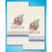 Tobin Apple Stamped Kitchen Towels For Embroidery