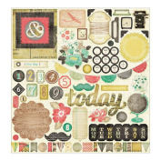 Crate Paper DIY Shop Chipboard Stickers, 30cm x 30cm , Accents