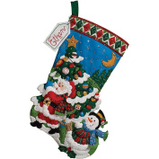Bucilla Felt Applique Stocking, Tree Shopping