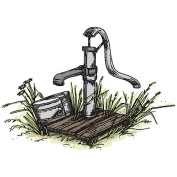 Art Impressions Wilderness Series Cling Rubber Stamp, Hand Pump