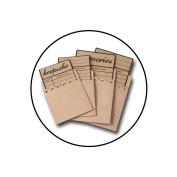 Maya Road Kraft Library Card With Envelope, 7.4cm x 9.7cm , 4/pkg, 4 Styles/1 Each