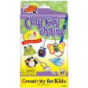 Creativity For Kids Activity Kits, Clay Key Chains, 5/pkg