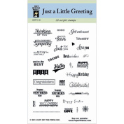 Hot Off The Press Acrylic Stamps 7.6cm x 13cm Sheet, Just A Little Greeting