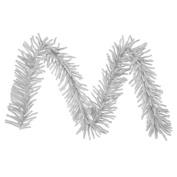 2.7m x 25cm Sparkling Silver Tinsel Artificial Christmas Garland - Unlit