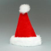 Pack of 6 Classic Plush Christmas Santa Claus Hats 43cm