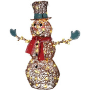 Starry Night Grapevine Snowman Christmas Lights