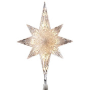 28cm Fanciful Lighted Star of Bethlehem Christmas Tree Topper - Clear Lights