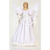 46cm Unlit White Angel Holding Garland Christmas Tree Topper