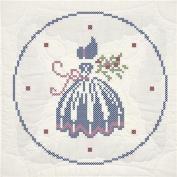 Fairway Stamped Quilt Blocks, 46cm x 46cm , 6/pkg, Cross Stitch Lady