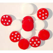 Club Pack Of 72 Red & White Confetti Glass Decorating Pebbles