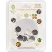 Epiphany Crafts Epiphany Crafts Metal Brad Settings, Round 14, 10/pkg