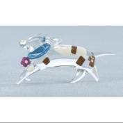 Club Pack of 48 Abstract Standing Dog Glass Figurines #59063
