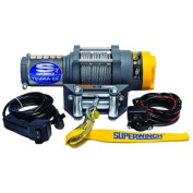 Superwinch 1125220 Terra 25 2500lb-1134kg single line pull w roller fairlead, handlebar mnt toggle, and handheld remote