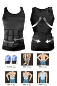 Double Strength MENS SLIMMING ABDOMEN COMPRESSION BODY SHAPER T-SHIRT TANK TOPS VEST WEIGHT-LOSE