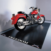 G-Floor Freedom Motorcycle Mat, 1.5m x 3m, Ribbed, Freedom Label, Black